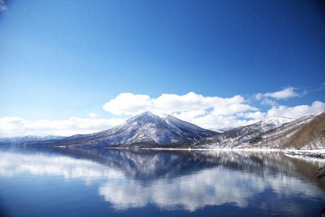 アイヌの雪山