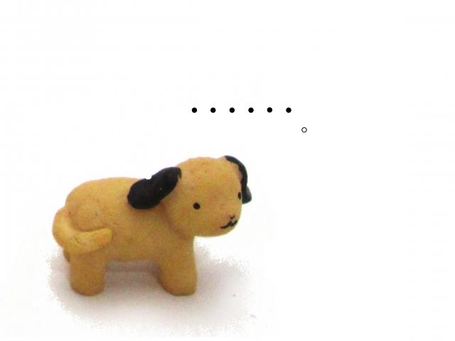 時間に悩む犬