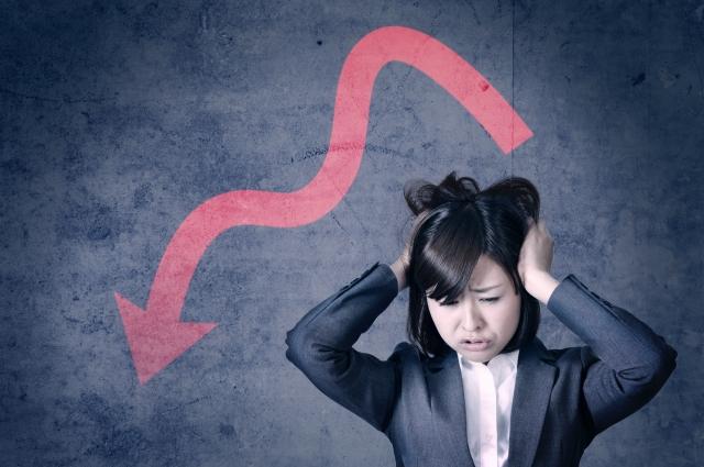 仕事の減少に悩む女性