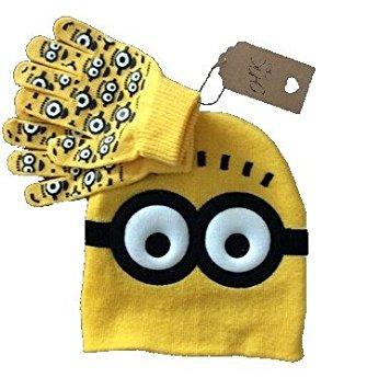 ミニオンズのニット帽と手袋