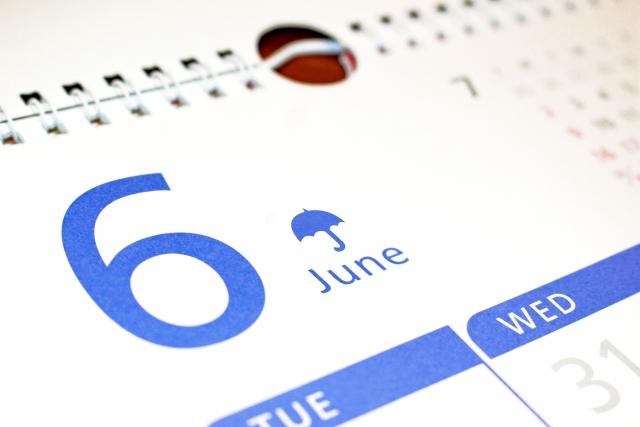 6月のカレンダー画像