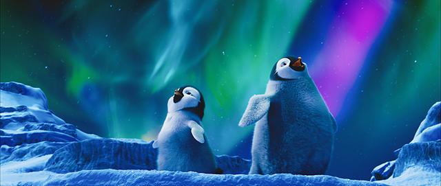 オーロラとペンギン