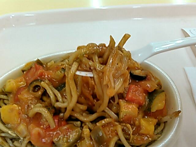 夏野菜のイタリアンの麺画像
