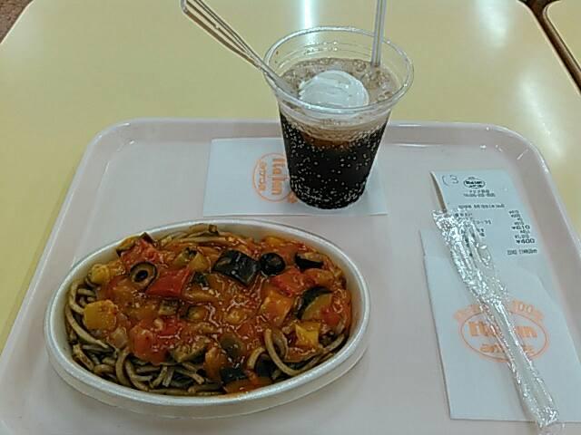 夏野菜のイタリアンとコーラフロート