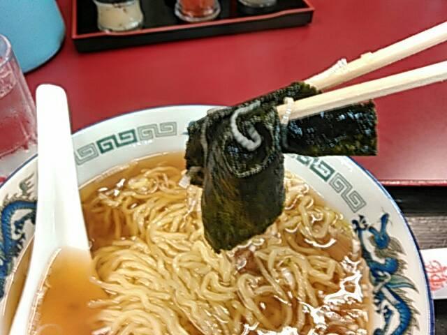 醤油ラーメンの海苔の画像