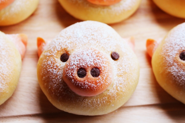 チャーシューを象徴する豚