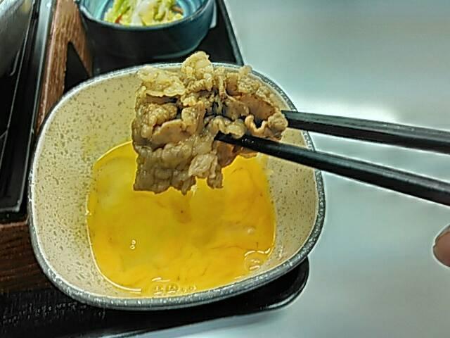 牛すき鍋膳の肉の画像