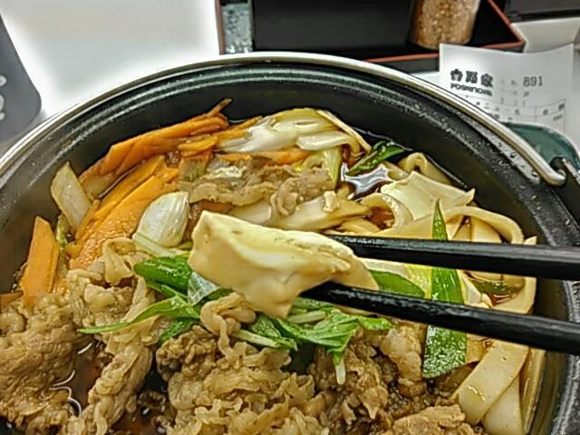 牛すき鍋膳の豆腐画像