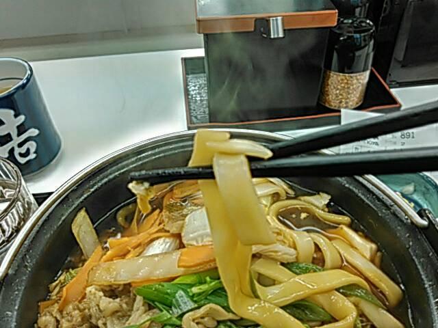 牛すき鍋膳の麺画像