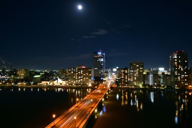 新潟市の夜景