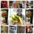 たくさんの差し入れと花束をありがとう。