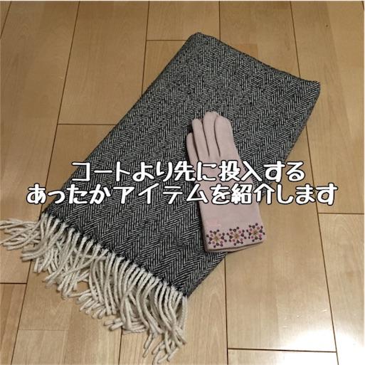 ストールと手袋の写真:image