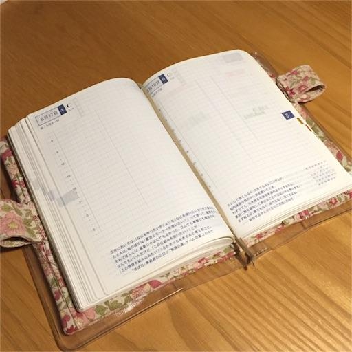 手帳見開きページの写真