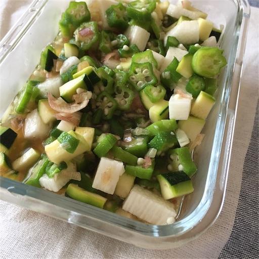 夏野菜の出汁風写真