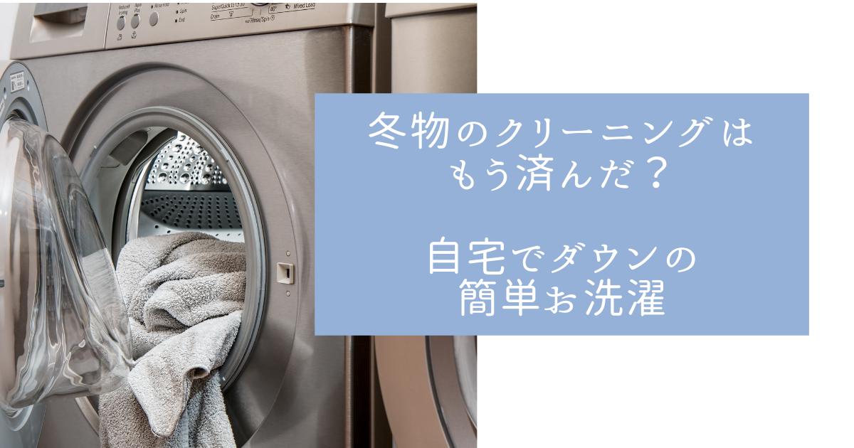 ドラム式洗濯乾燥機の写真とブログの説明