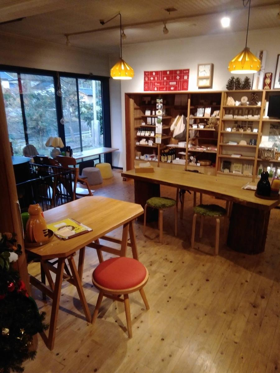 あわくら温泉 元湯のカフェスペース