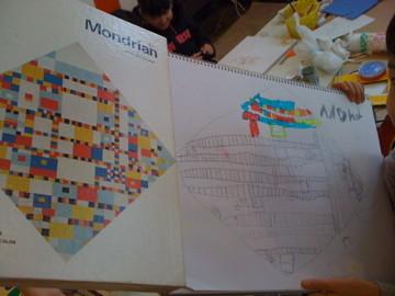 Mondrian模写 けんちゃん作