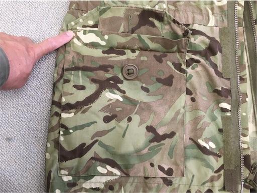 イギリス軍MTPスモック右腰ポケット