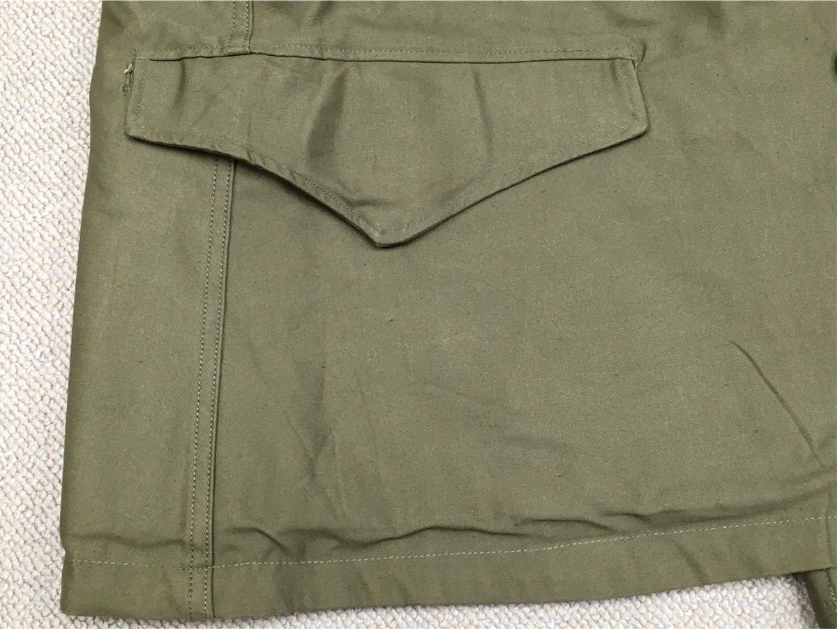 アメリカ軍M43フィールドジャケット370–E腰ポケット