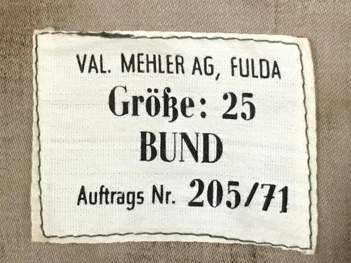 旧西ドイツ国境警備隊BGS迷彩ジャケットタグ