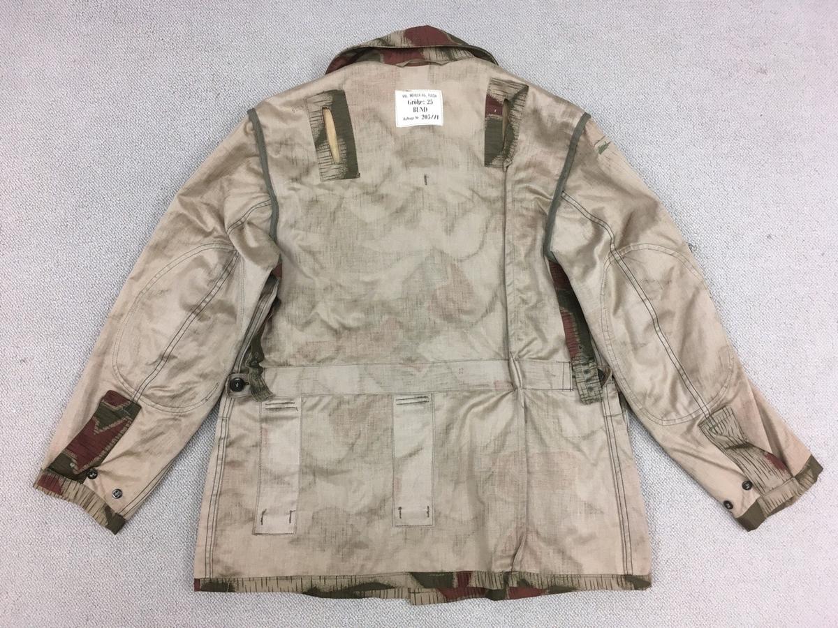 旧西ドイツ国境警備隊BGS迷彩ジャケット背面裏側