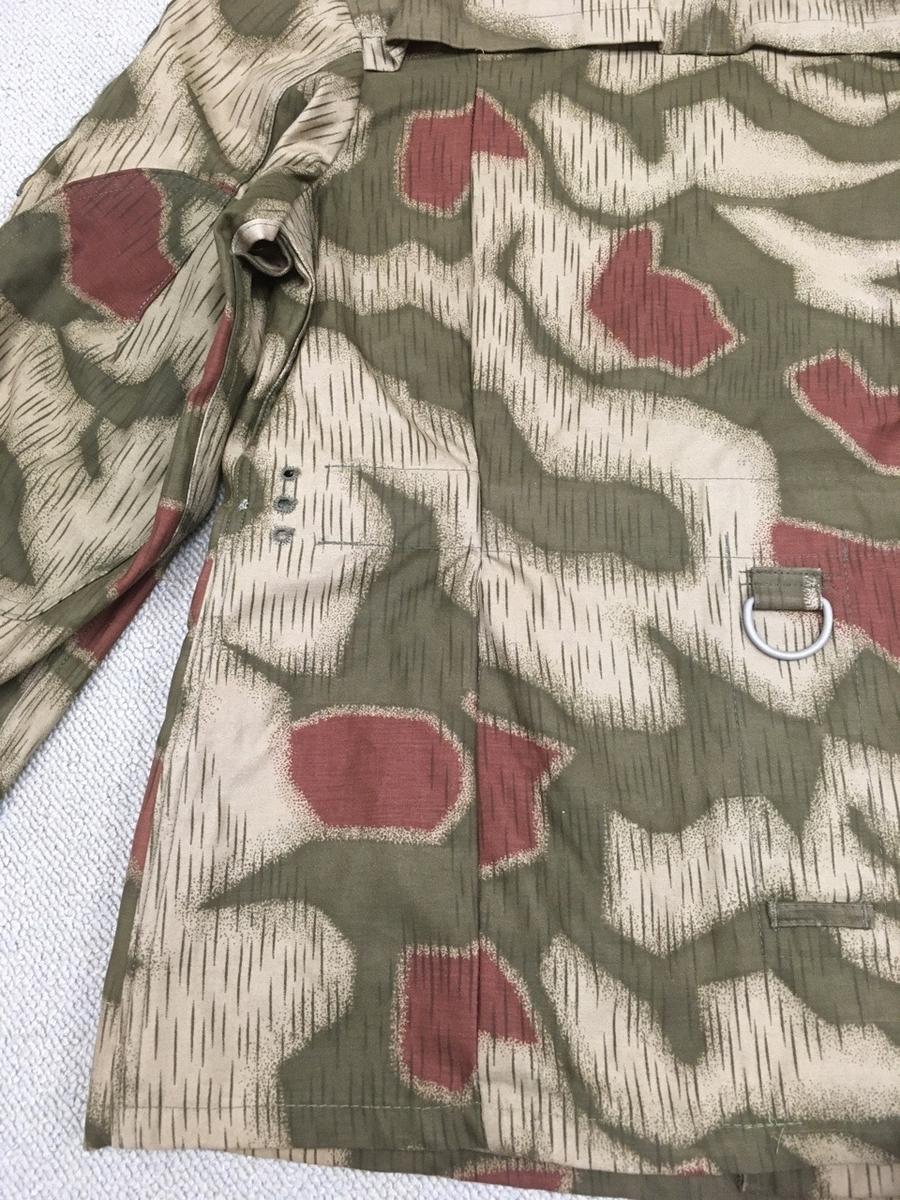 旧西ドイツ国境警備隊BGS迷彩ジャケット背面修正跡