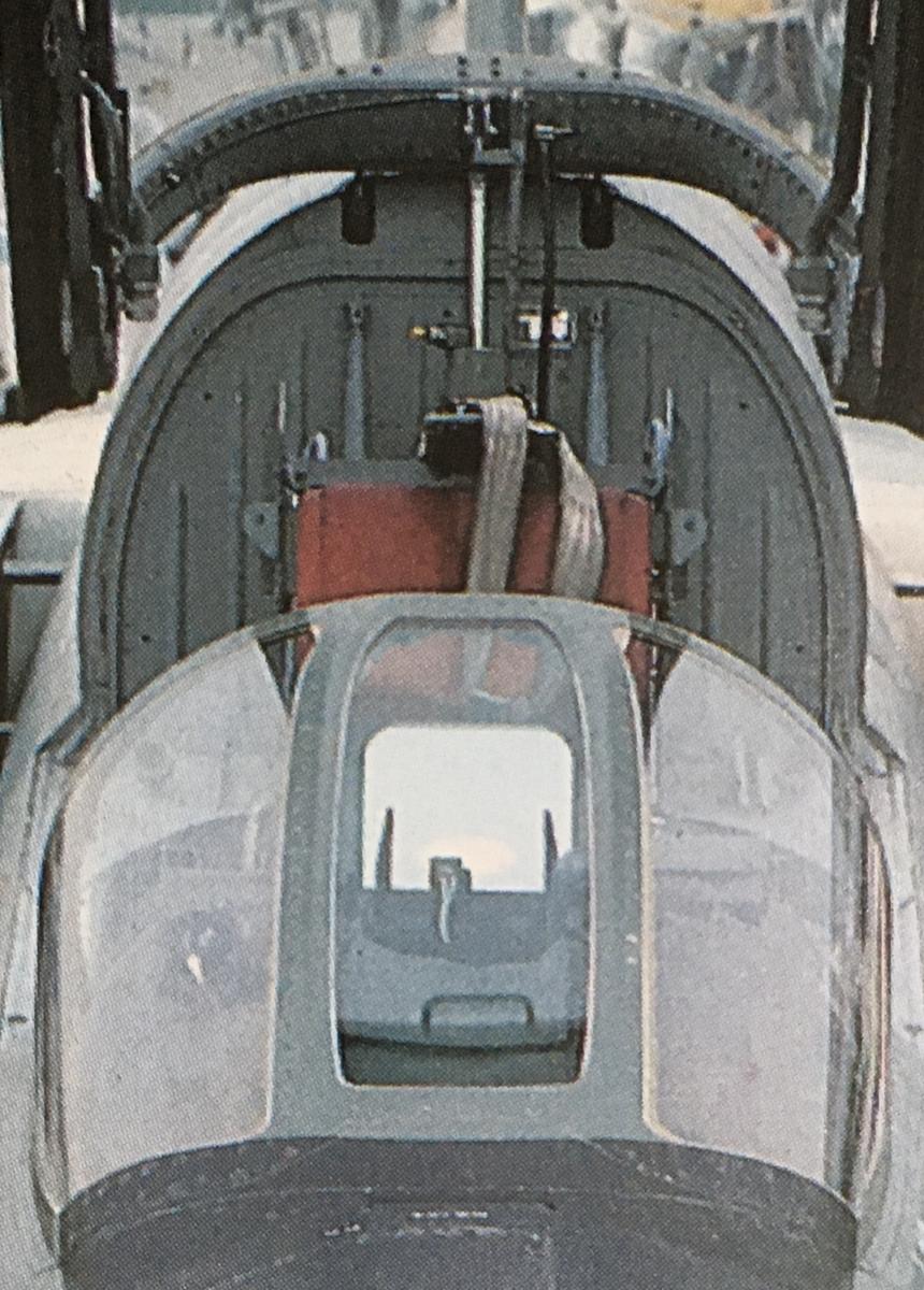 航空自衛隊F–1戦闘機ウインドシールド周り
