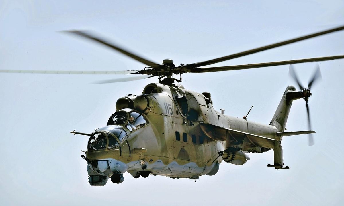 旧ソ連軍攻撃ヘリコプター「ハインド」