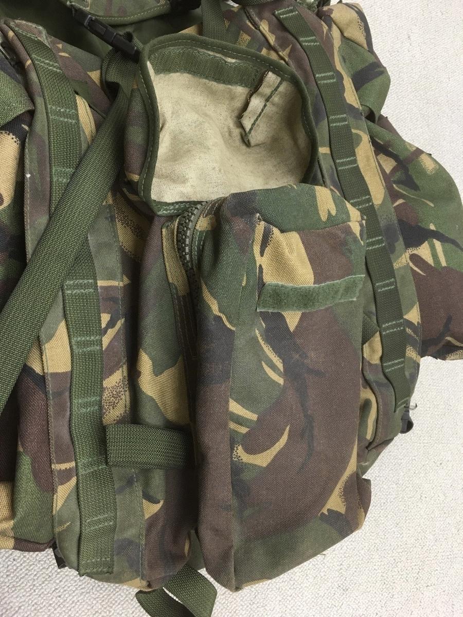 イギリス陸軍迷彩バックパック(ラックサック)背面小パウチ