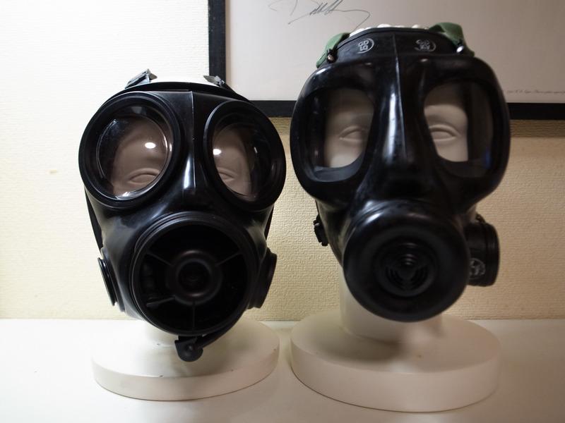 イギリス軍S10、S6ガスマスク