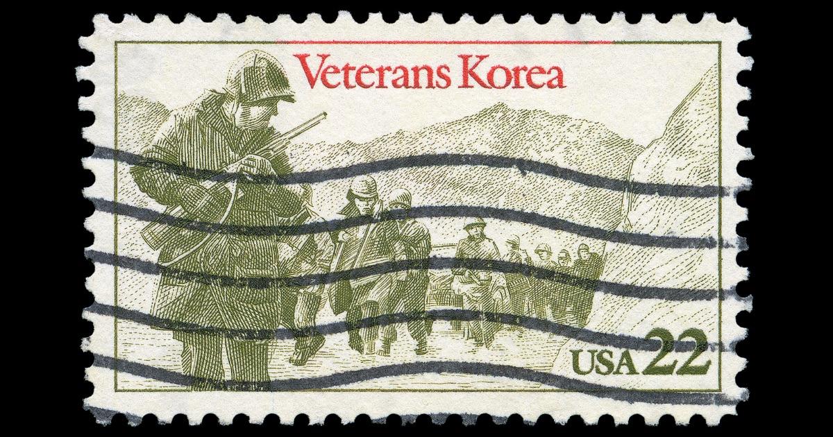 アメリカ朝鮮戦争切手