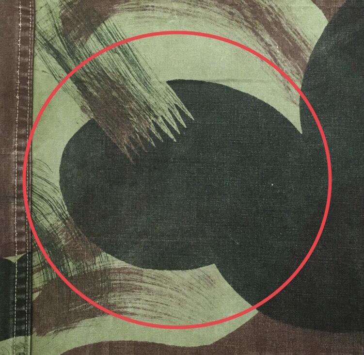 ベルギー軍1950年代ブラッシュストロークパターン迷彩の識別点