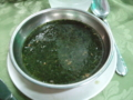 エジプトでいただいたモロヘイヤスープ。
