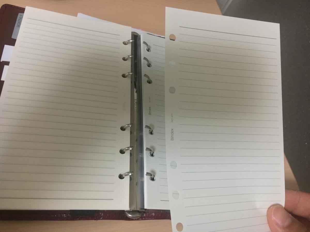 システム手帳 リフィル