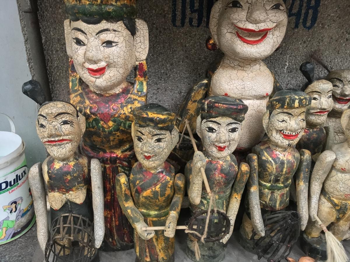 ベトナム水上人形劇で使う人形。怖い