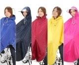[Amagoo] 自転車用 レインコート ポンチョタイプ カラー5色 【ブルー/レッド/イエロー/ネイビー/ピンク】 男女兼用 フリーサイズ (ブルー(青))