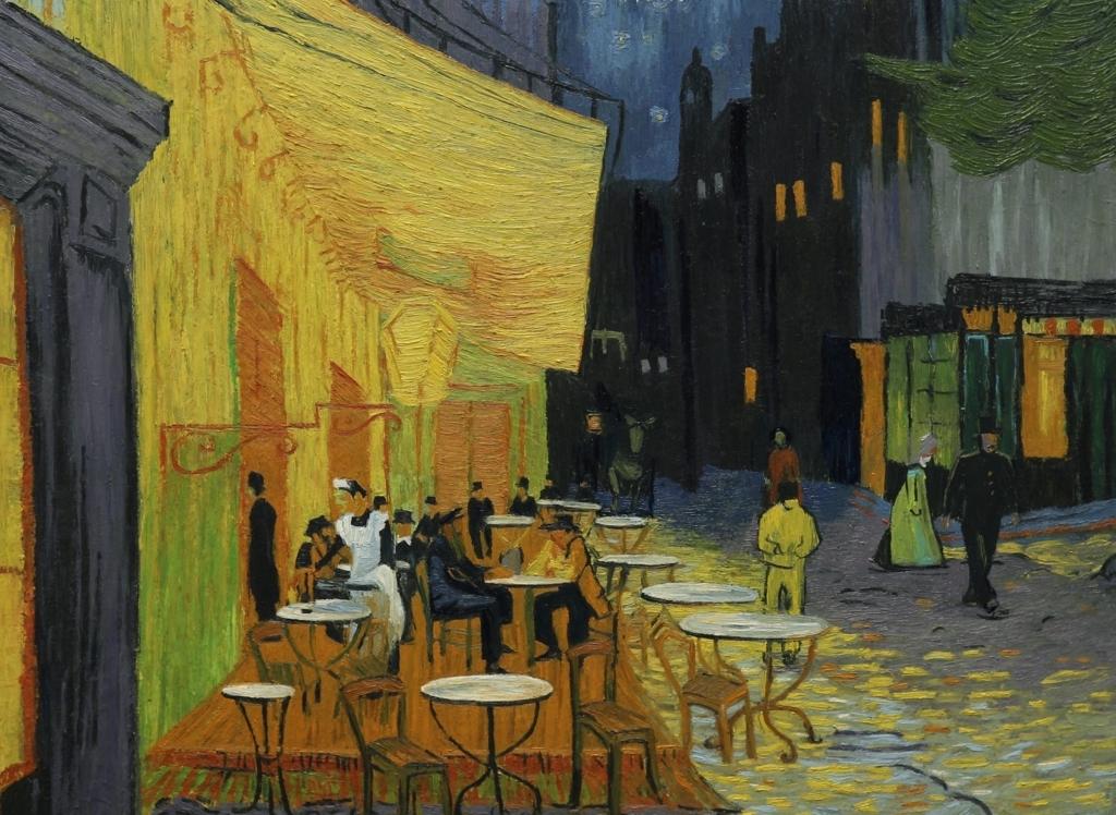 「夜のカフェテラス」
