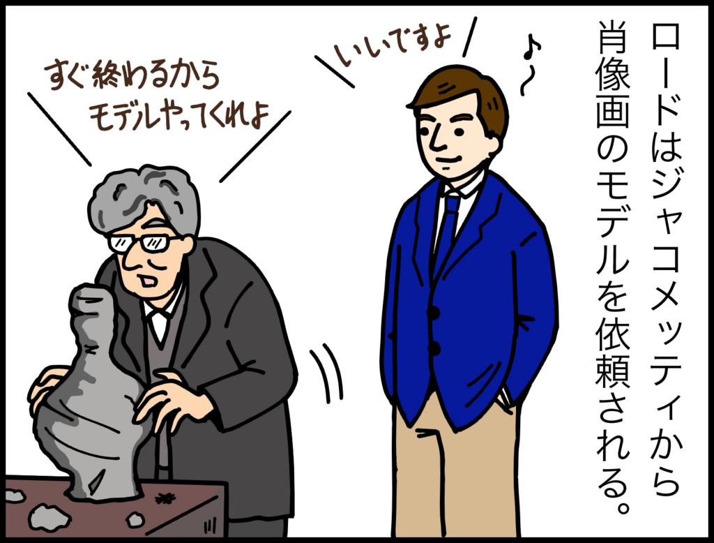 4コマ漫画で紹介『ジャコメッティ 最後の肖像』1