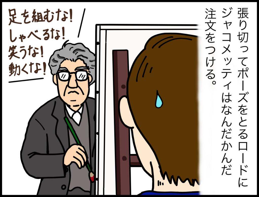 4コマ漫画で紹介『ジャコメッティ 最後の肖像』2