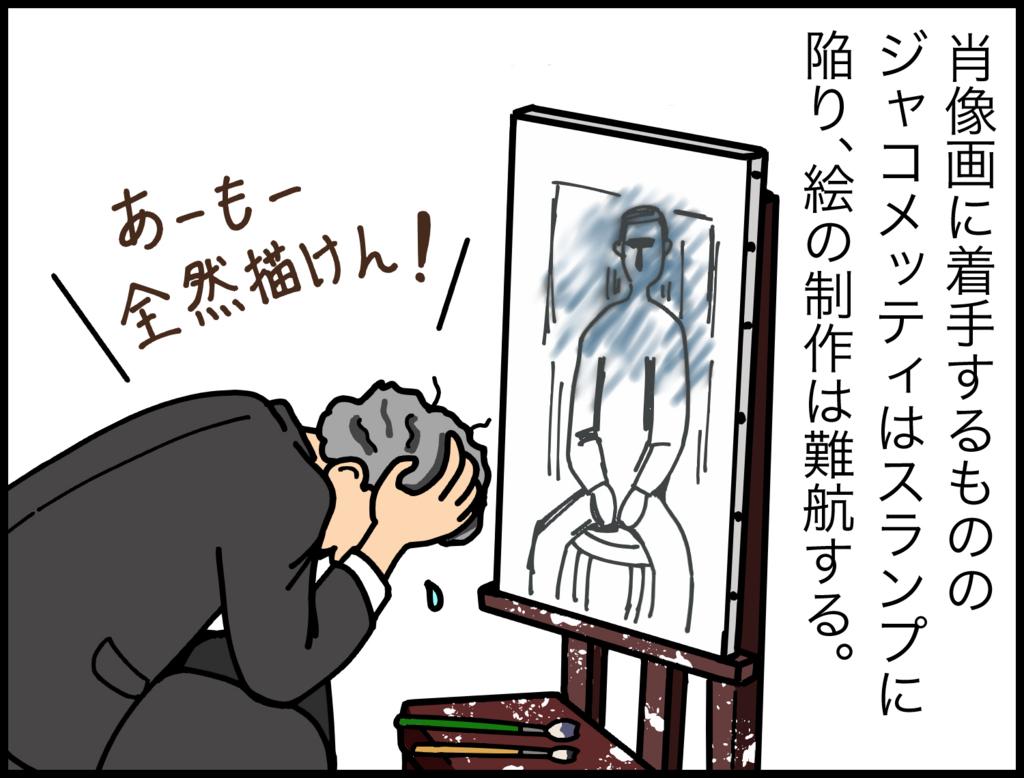 4コマ漫画で紹介『ジャコメッティ 最後の肖像』3