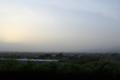 中央道、境川PAより甲府盆地を眺める