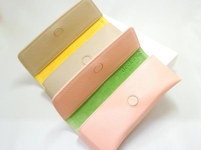 deekay.s MCL 1-8 パステル レザー眼鏡ケース pink / gray_1
