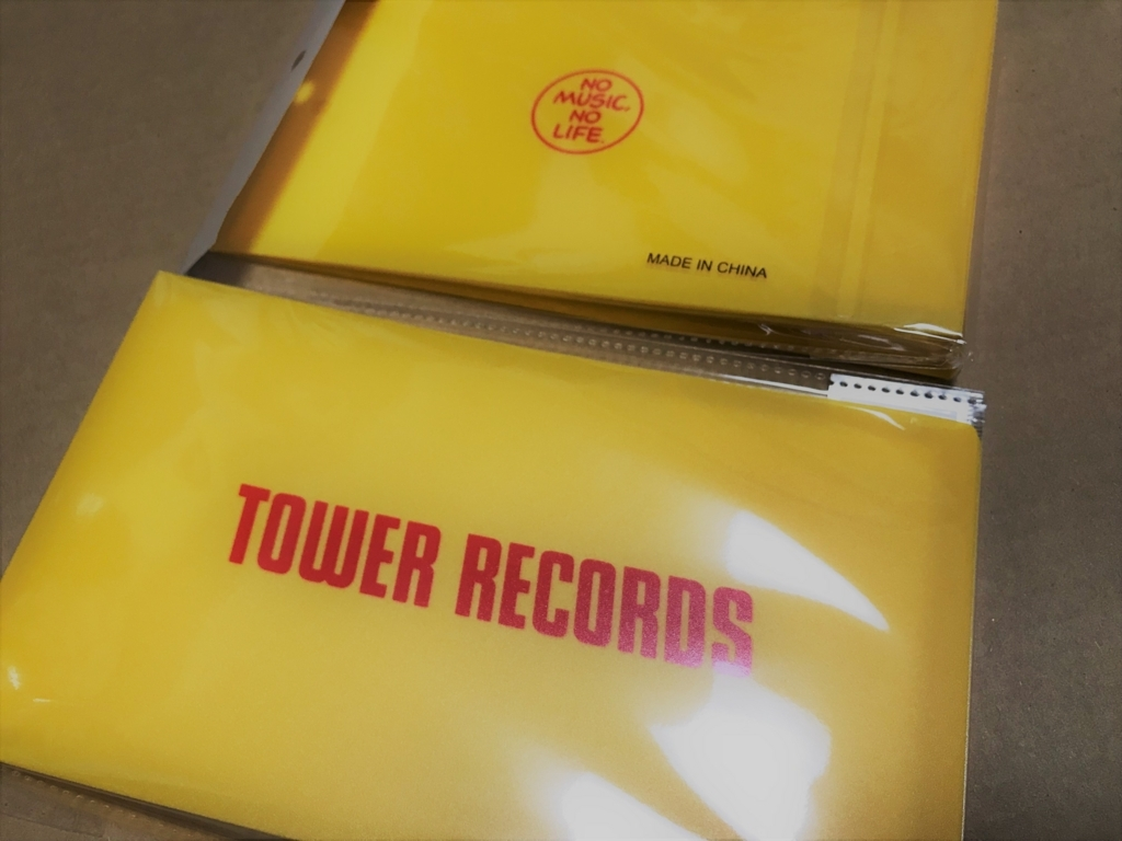 TOWER RECORDS チケットファイル YELLOW