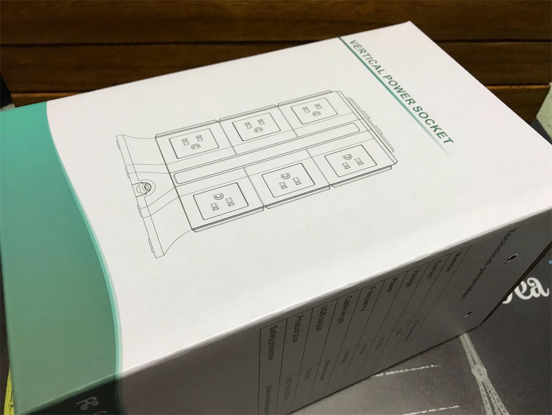BEVA タワー式電源タップ パッケージ外箱