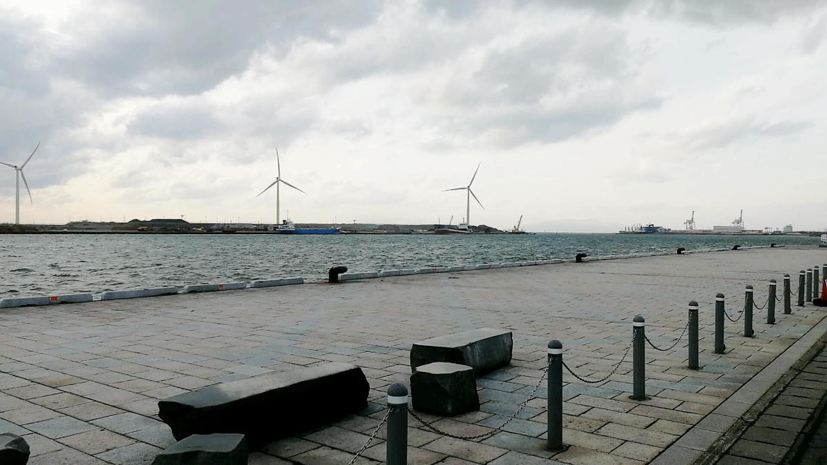 セリオン前の秋田港