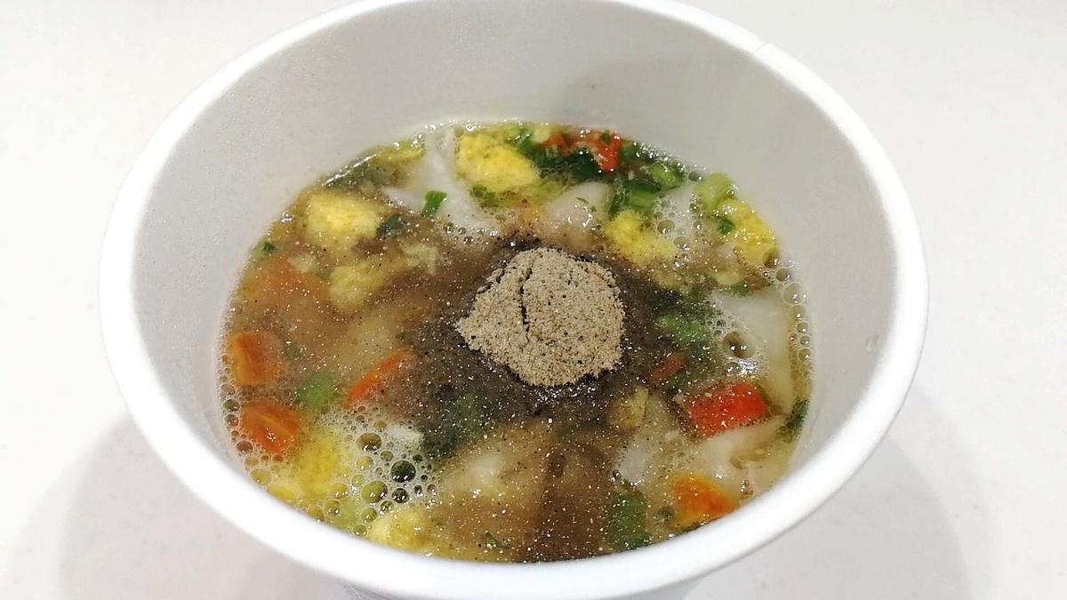 カップ麺やカップスープに煮干粉末を入れてワンランク上の美味しさ!