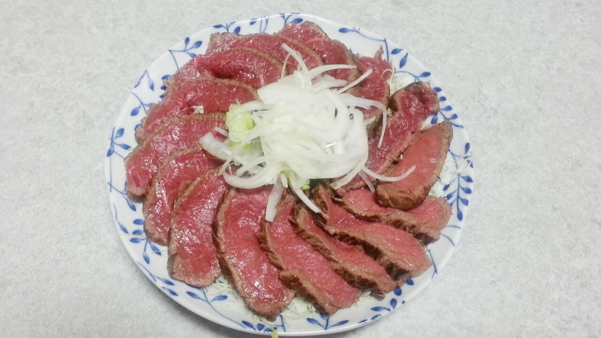 牛のタタキは赤身肉で作りましょう!