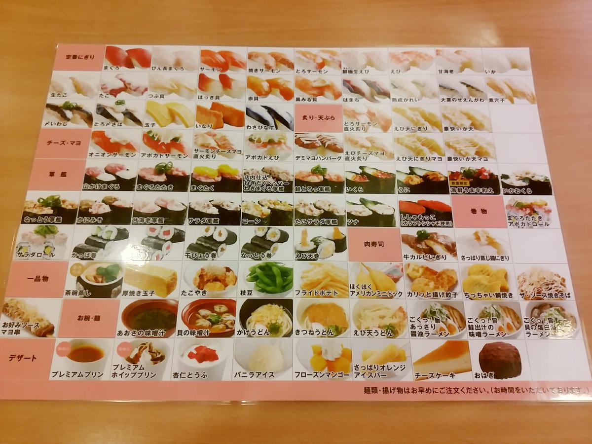 かっぱ寿司の食べ放題メニュー!種類が多くて意外と良いぞ!?
