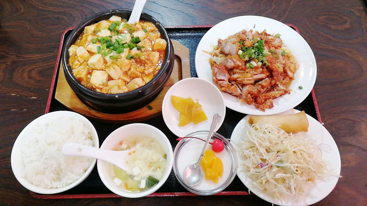 横手の台湾料理「美味鮮」の麻婆豆腐定食!