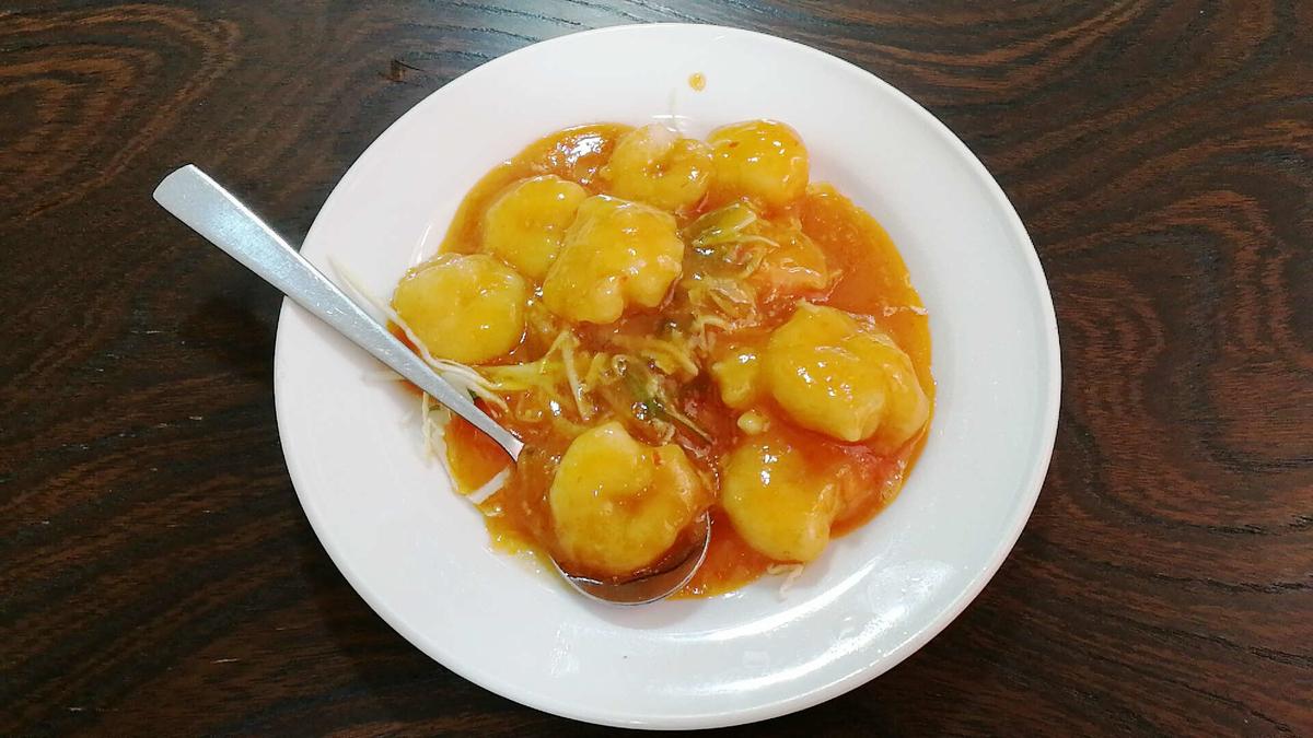 横手の台湾料理「美味鮮」のエビチリ!